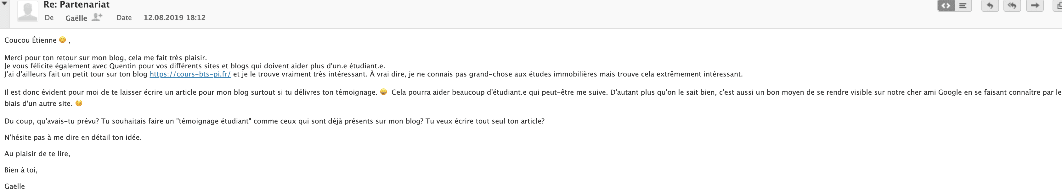 article invité mail